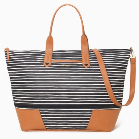 Stella Dot Getaway BlackCream Stripe by Stella Dot from